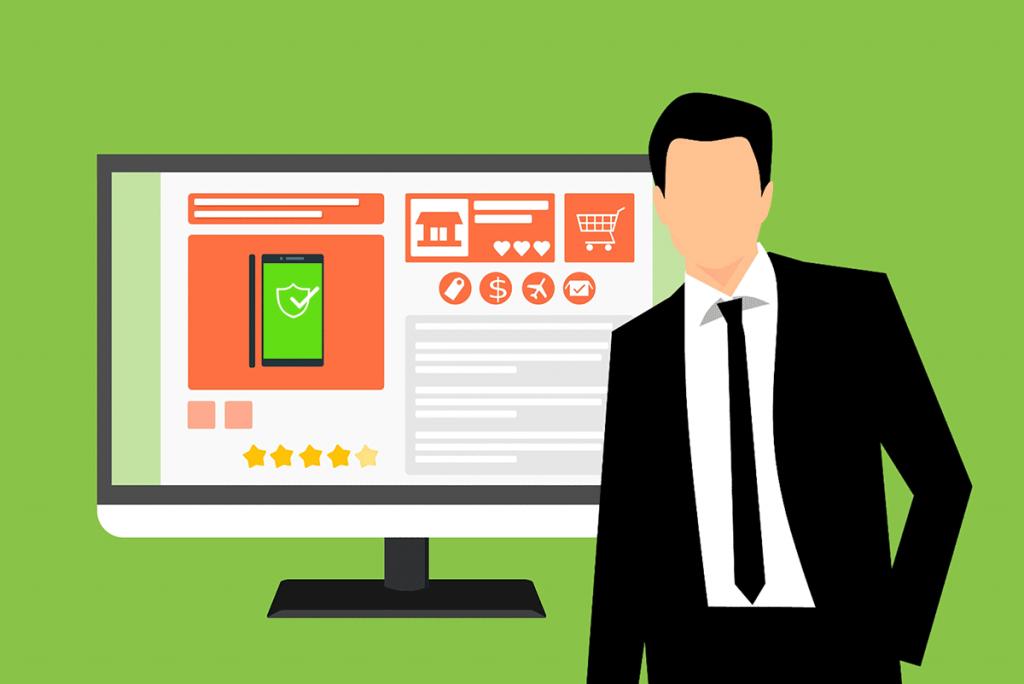 spletna stran spletni prodajalec