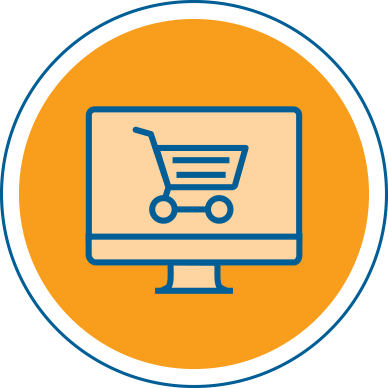 icon circle e Commerce websites
