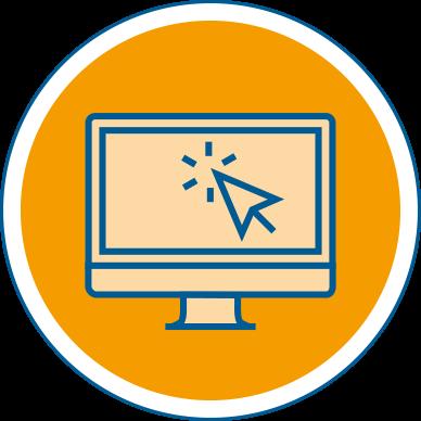 icon circle online education
