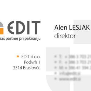 EDIT 02 graficno oblikovanje vizitka