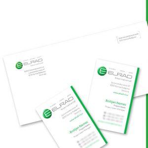 Elrad 01 graficno oblikovanje dopis vizitka kuverta