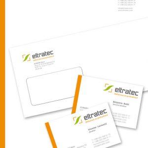 Eltratec 01 graficno oblikovanje dopis vizitka kuverta