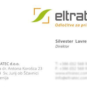 Eltratec 02 graficno oblikovanje vizitka
