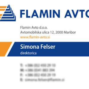 Flamin avto 02 graficno oblikovanje vizitka