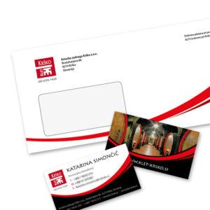 KZ Krsko 01 graficno oblikovanje dopis vizitka kuverta