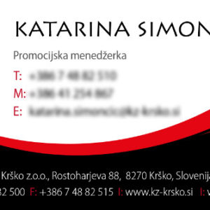 KZ Krsko 02 graficno oblikovanje vizitka