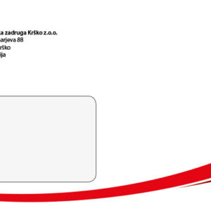 KZ Krsko 04 graficno oblikovanje kuverta