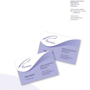 Peresce 01 graficno oblikovanje dopis vizitka