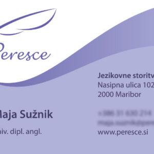 Peresce 02 graficno oblikovanje vizitka