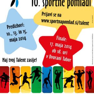 Sportna pomlad 03 graficno oblikovanje plakat