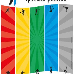 Sportna pomlad 04 graficno oblikovanje plakat