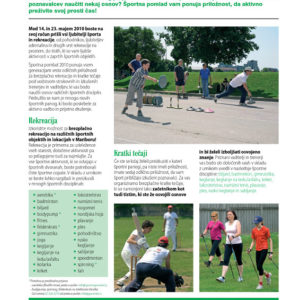 Sportna pomlad 09 graficno oblikovanje casopis