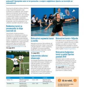 Sportna pomlad 10 graficno oblikovanje casopis