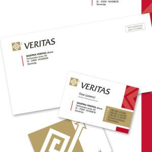 Veritas 01 graficno oblikovanje dopis vizitka kuverta