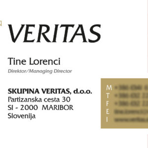 Veritas 03 graficno oblikovanje vizitka