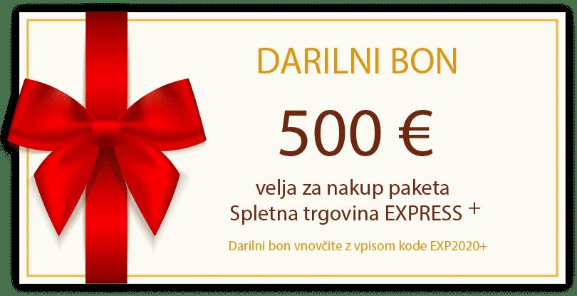 darilni bon 2020 trgovina express