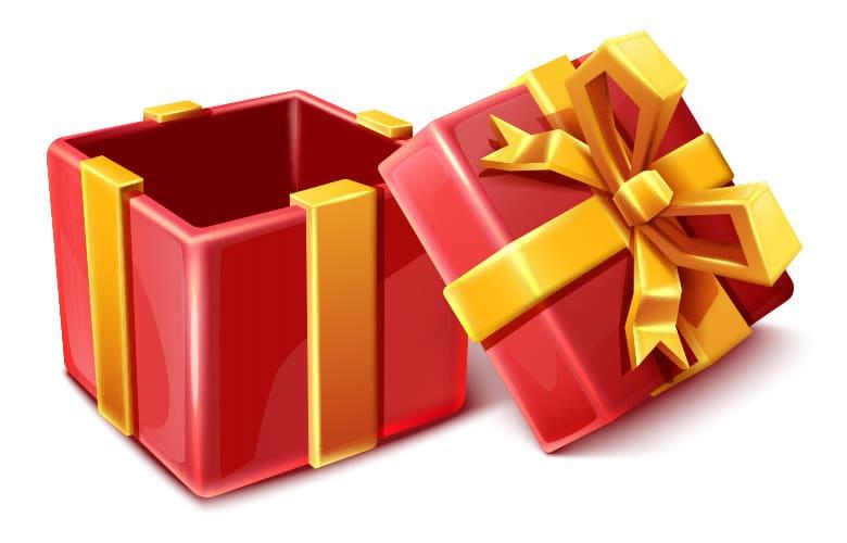 darilo rdece odprto